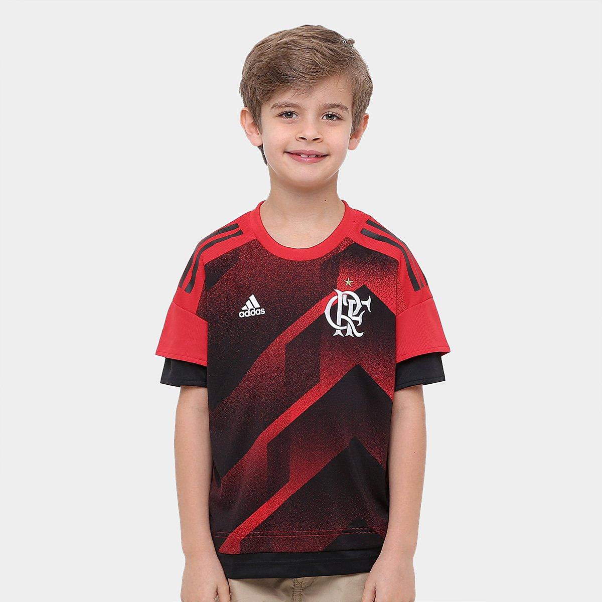 428f7a27b8 Camisa Flamengo Infantil Goleiro I 17 18 Torcedor Adidas Masculina ...