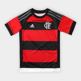 Camisa Flamengo Infantil I 16/17 s/nº Torcedor Adidas