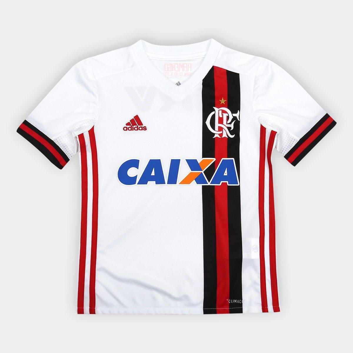 Camisa Flamengo Infantil II 17 18 s nº c  Patrocínio - Torcedor Adidas ... 62a1a8f879e50