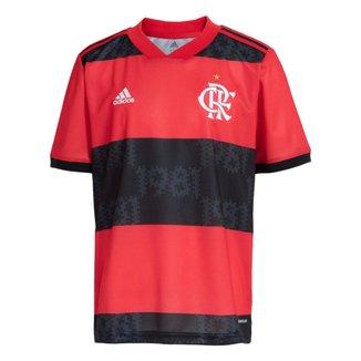 Camisa Flamengo Infantil Jogo 1 Adidas 2021 9-10 Anos