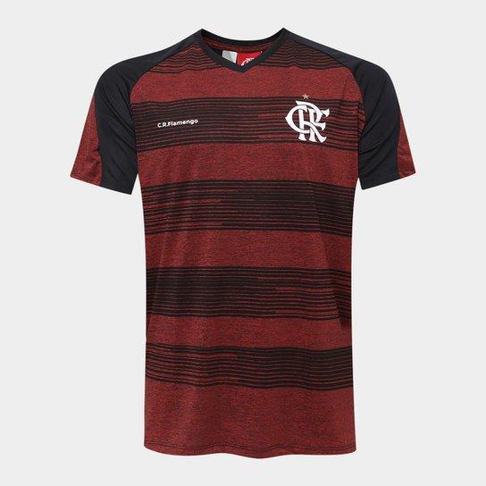 Camisa Flamengo Motion Masculina - Preto+Vermelho