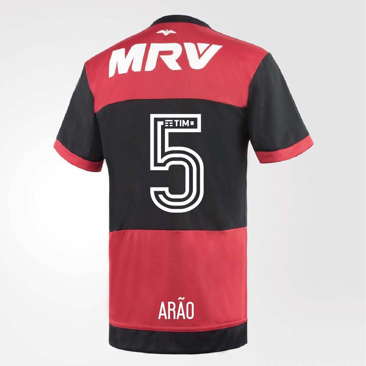4d80fe18bd Camisa Flamengo Oficial Jogo 1 Adidas 2017 Arão   Netshoes