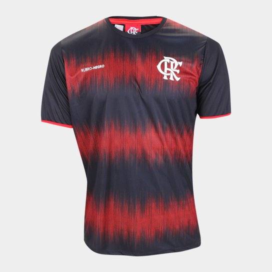 Camisa Flamengo Part Masculina - Preto