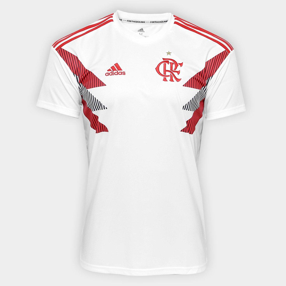 bd64cffd9b Camisa Flamengo Pré Jogo Adidas Masculina - Branco - Compre Agora ...
