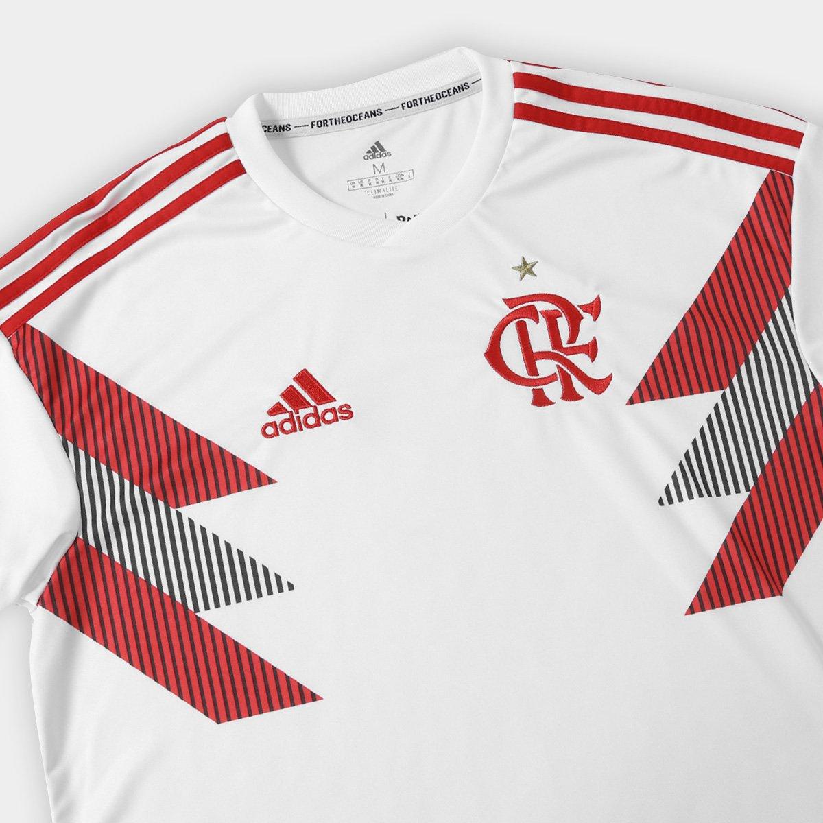 Camisa Flamengo Pré Jogo Adidas Masculina - Branco - Compre Agora ... 205a57bd53bf5