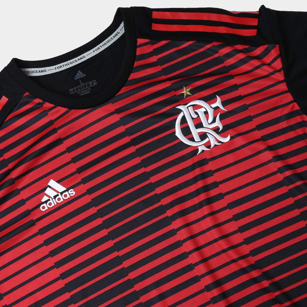 Camisa Flamengo Pré Jogo - Torcedor Adidas Masculina - Preto e ... 1b5b97160a5e3
