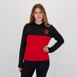 Camisa Flamengo Reserve Manga Longa Feminina Preta e Vermelha
