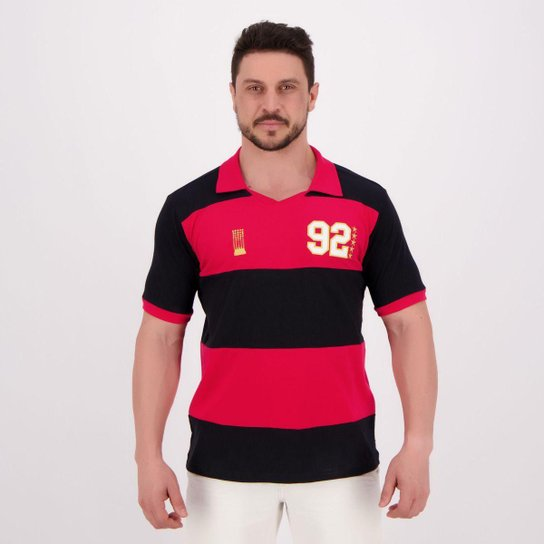 Camisa Flamengo Retrô 1992 Masculina - Preto