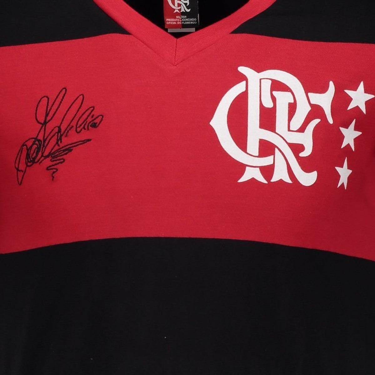 Camisa Flamengo Retrô Libertadores Adílio Masculina - Vermelho ... 86e0a73f2f272