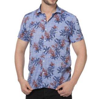 Camisa florida slim fit - P
