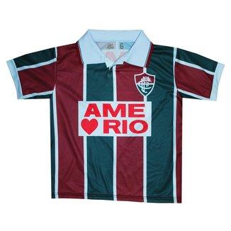 Camisa Fluminense 1995 Liga Retrô Infantil  Listrada 12