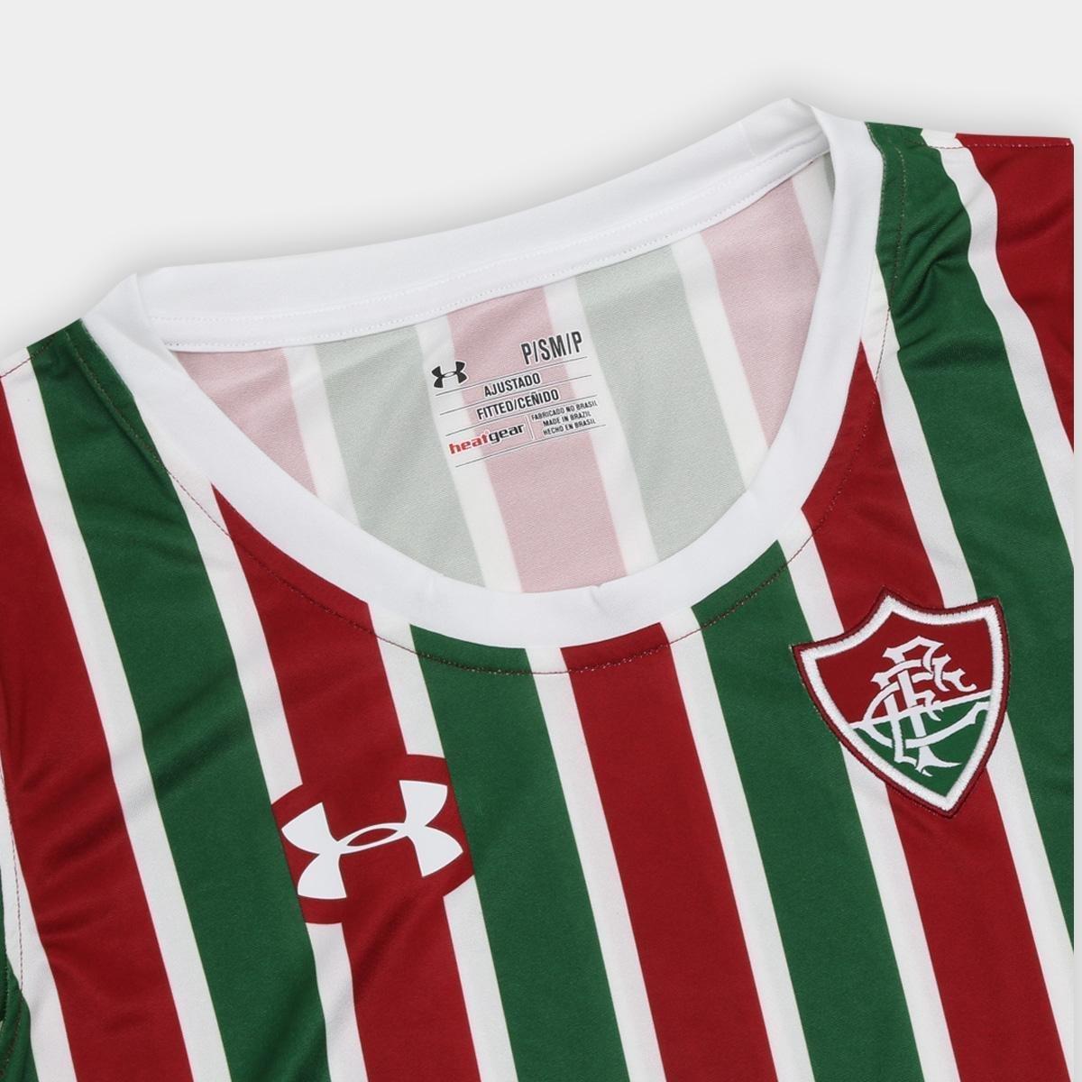 Camisa Fluminense I 17 18 s nº Torcedor Under Armour Feminina ... 91cf60b0c3890