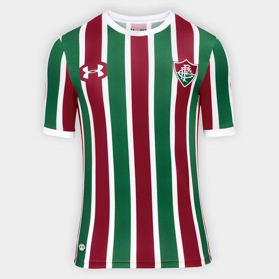 Camisa Fluminense I 17/18 s/nº Torcedor Under Armour Masculina - Verde+Vinho