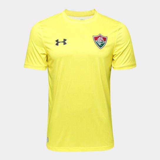 Camisa Fluminense I 17/18 s/nº Torcedor Under Armour Masculina - Amarelo