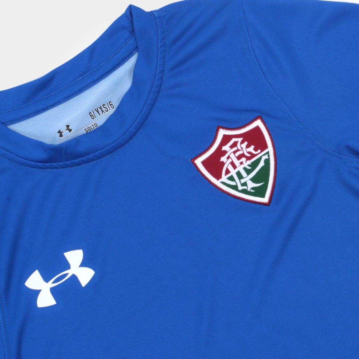 46e8b3f206 Camisa Fluminense I Infantil 17 18 s nº Torcedor Under Armour - Azul ...