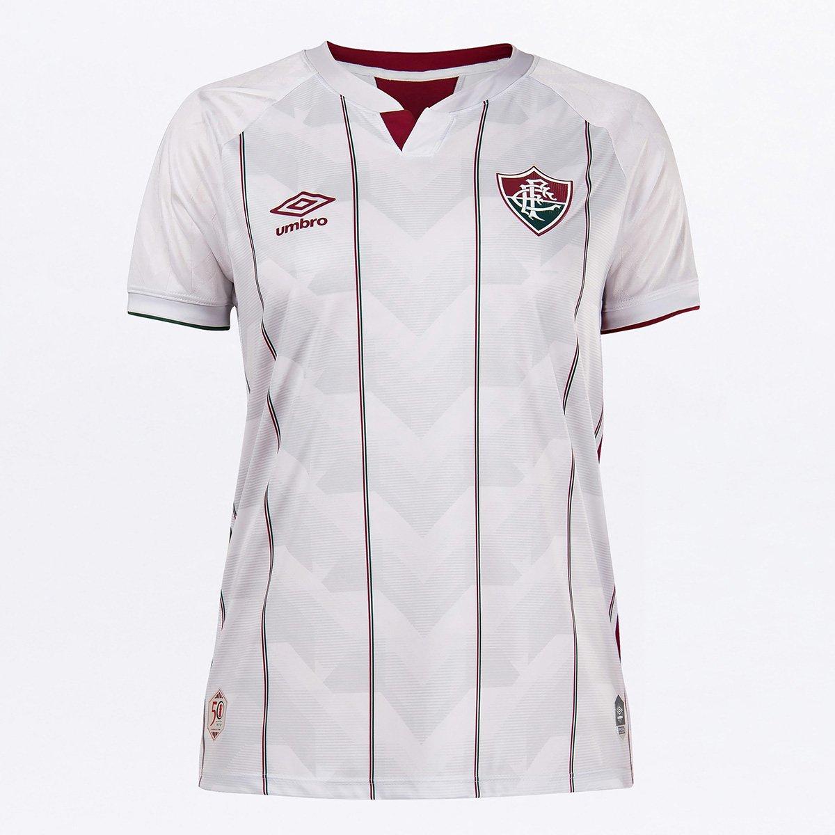 Camisa Fluminense II 20/21 s/n° Torcedor Umbro Feminina - Branco e Verde    Netshoes