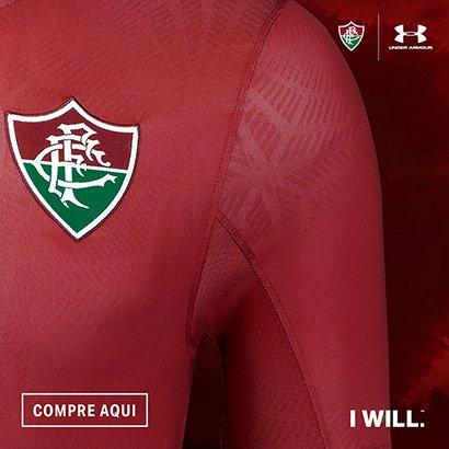 a4f3270a1c Camisa Fluminense III 17 18 s nº - Torcedor Under Armour Feminina - Vinho -  Compre Agora