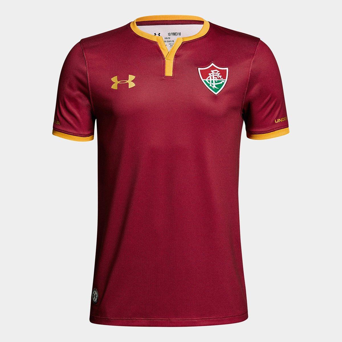 4ca6eb606f Camisa Fluminense III 17 18 s nº - Torcedor Under Armour Masculina - Bordô  - Compre Agora