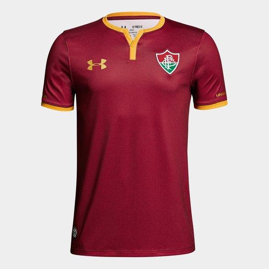 Camisa Fluminense III 17/18 s/nº - Torcedor Under Armour Masculina - Bordô