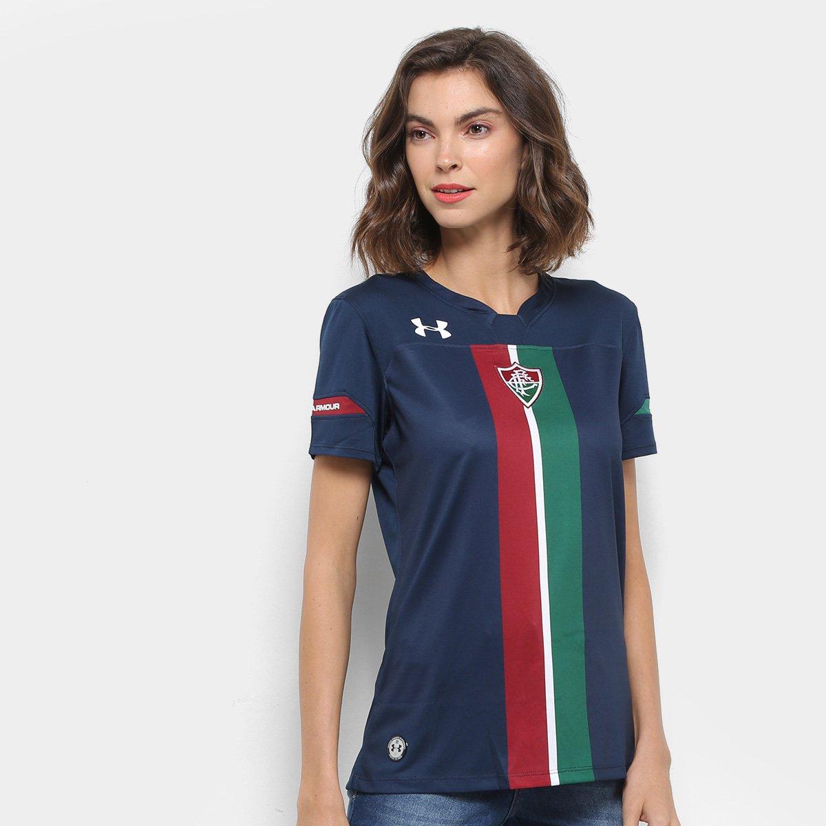 4e5b16e2cc Camisa Fluminense III 19 20 s n° Torcedor Under Armour Feminina - Marinho