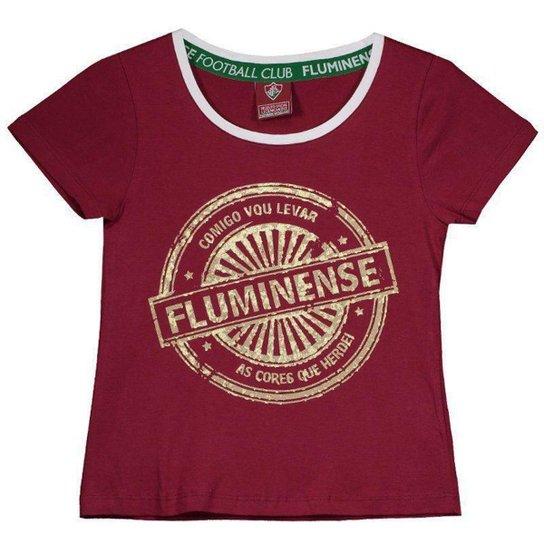 Camisa Fluminense Juvenil Feminina - Vermelho