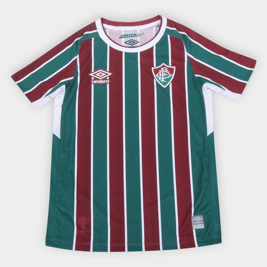 Camisa Fluminense Juvenil I 21/22 s/n° Torcedor Umbro - Verde+Vinho