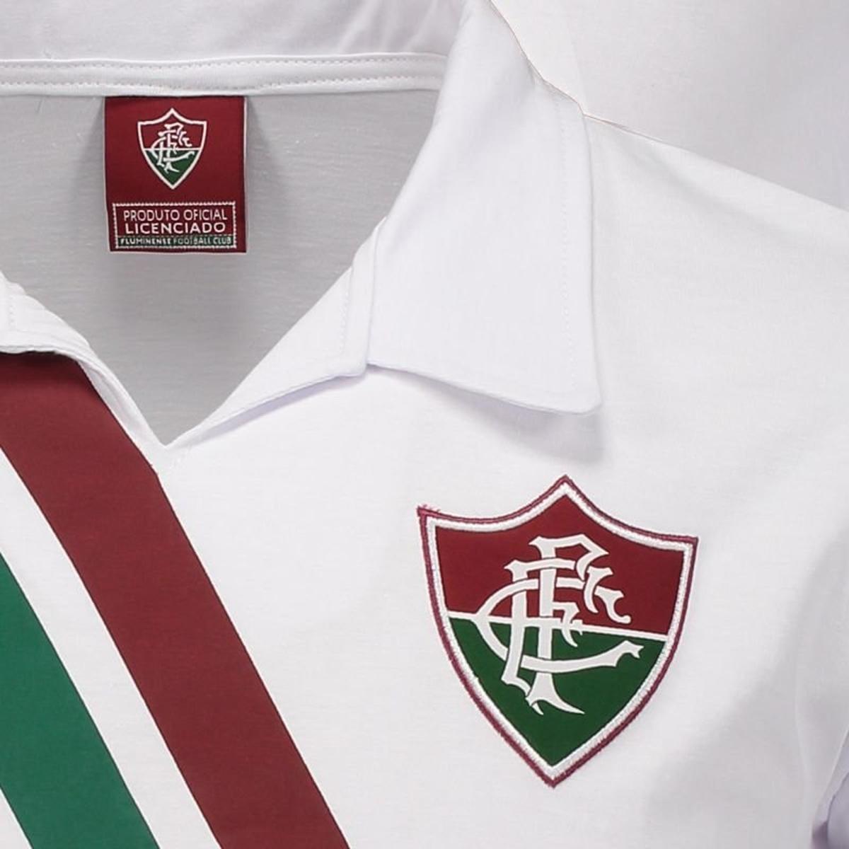 Camisa Fluminense Retrô Masculina - Branco - Compre Agora  dea06d5adca51