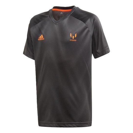 Camisa Football Inspired Messi Adidas - Cinza+Laranja