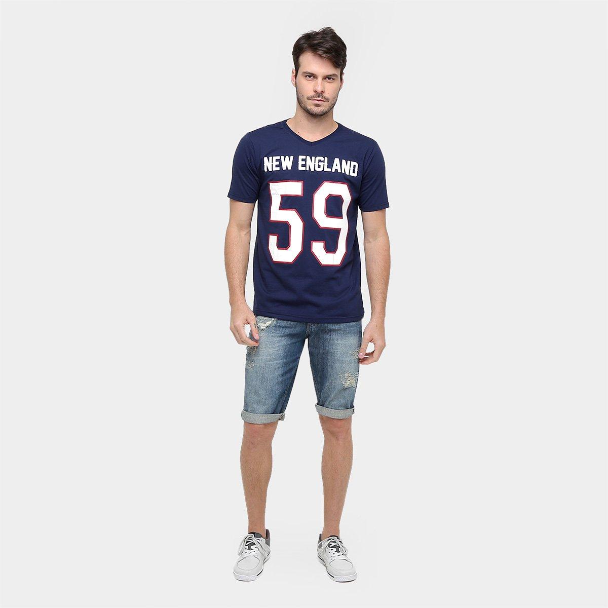 ... Camisa Futebol Americano New England Gonew Leagues Masculina ... cd9b1db4efcfb