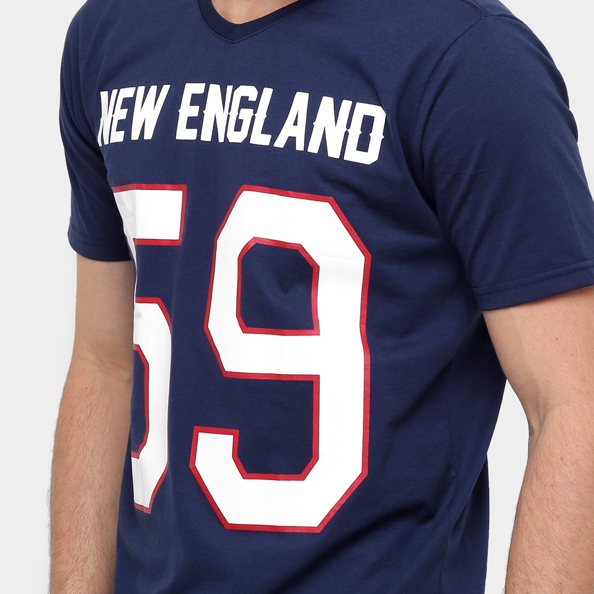 Camisa Futebol Americano New England Gonew Leagues Masculina ... 8928798da4922