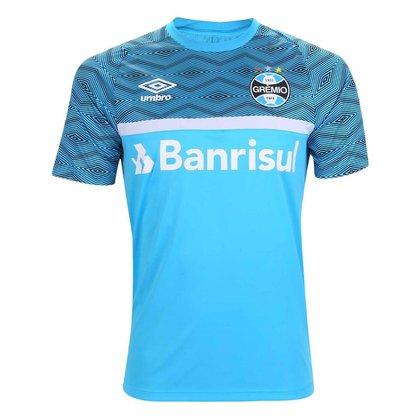 Camisa Grêmio 2021 Treino Azul Oficial Umbro