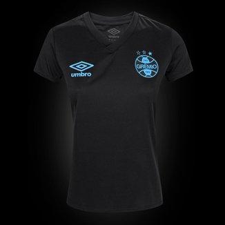 Camisa Grêmio Black Edição Limitada 21/22 s/n° Torcedor Umbro Feminina