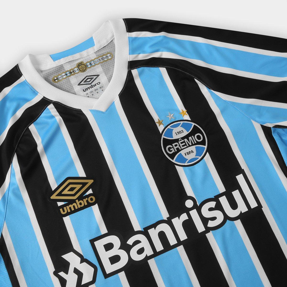 60f543cc43 ... Camisa Grêmio I 18 19 s n° Torcedor Umbro - Patch Campeão Libertadores  ...