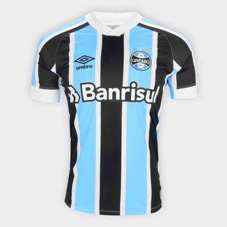 Camisa Grêmio I 21/22 s/n Torcedor Umbro Masculina Azul e Branca