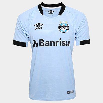 fda235c68c822 Camisa Grêmio II 17 18 s nº - Jogador Umbro Masculina - Azul Claro e Preto  - Compre Agora