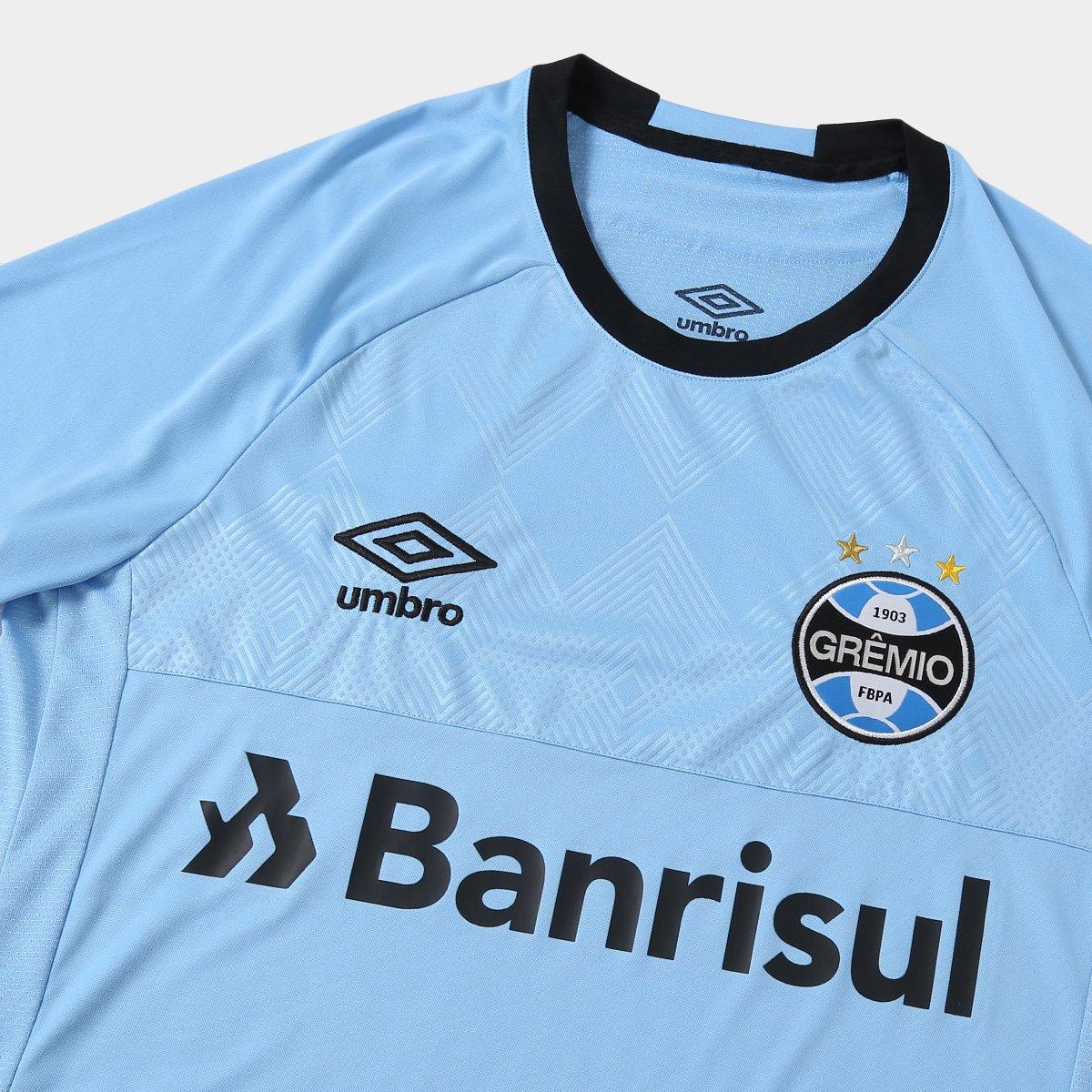 Camisa Grêmio II 2018 s n° Charrua Torcedor Umbro Masculina - Azul e ... cb0212db48c61