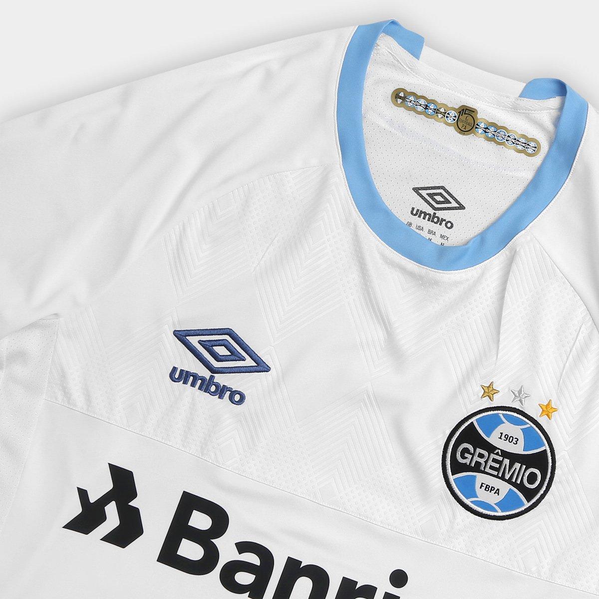Camisa Grêmio II 2018 s n° Torcedor Umbro Masculina - Branco e Azul ... b45923a277bc6