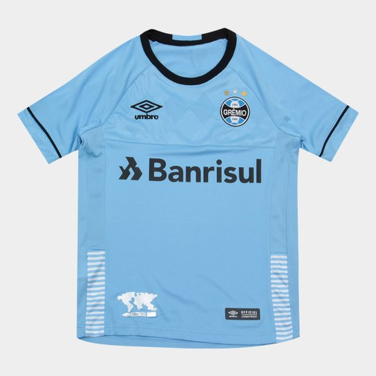 Camisa Gremio II Infantil 2018 s/n° - Charrua Torcedor Umbro - Azul+Preto