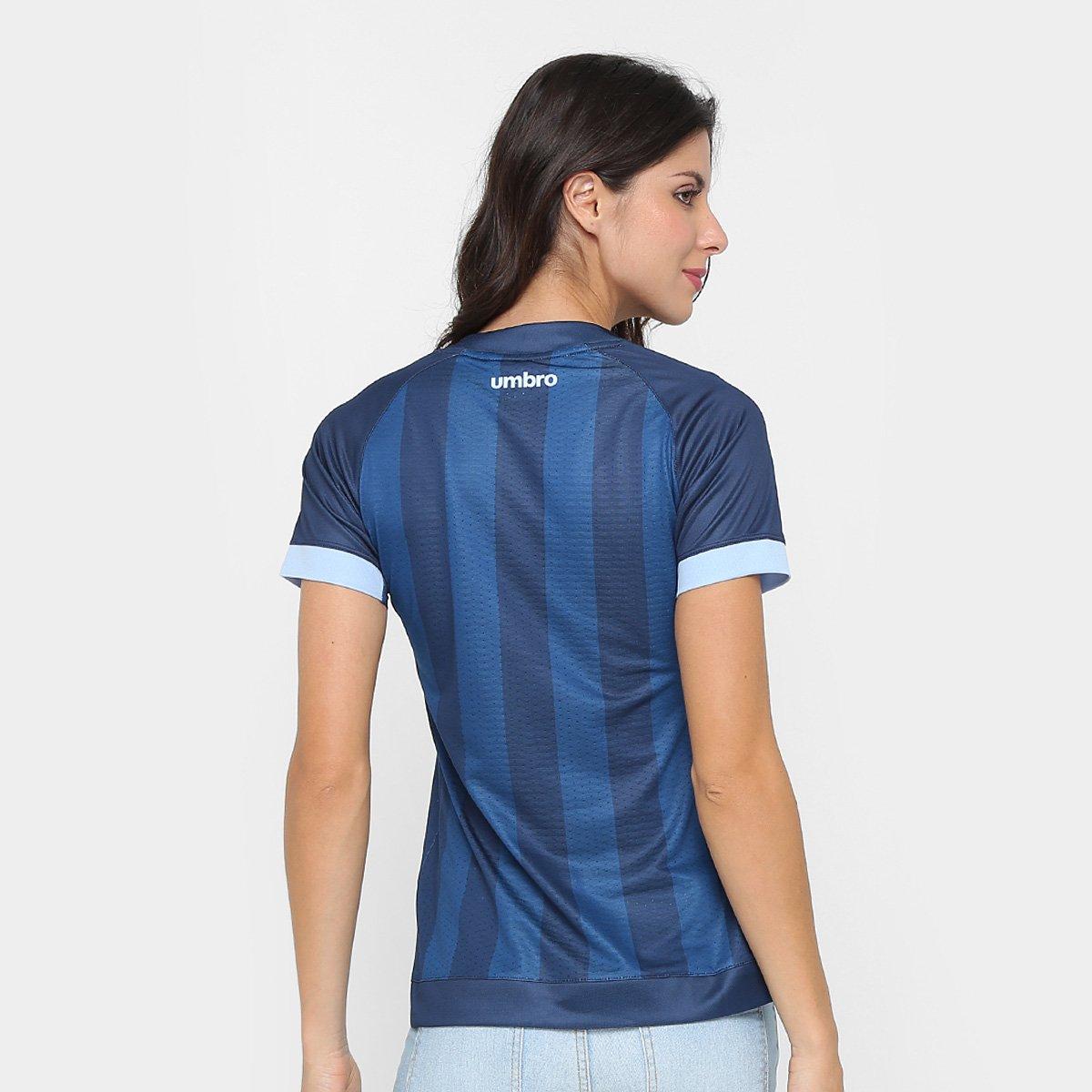 Camisa Grêmio III 17 18 s n° - Torcedor Umbro Feminina - Marinho ... a5d3c275eb0d8