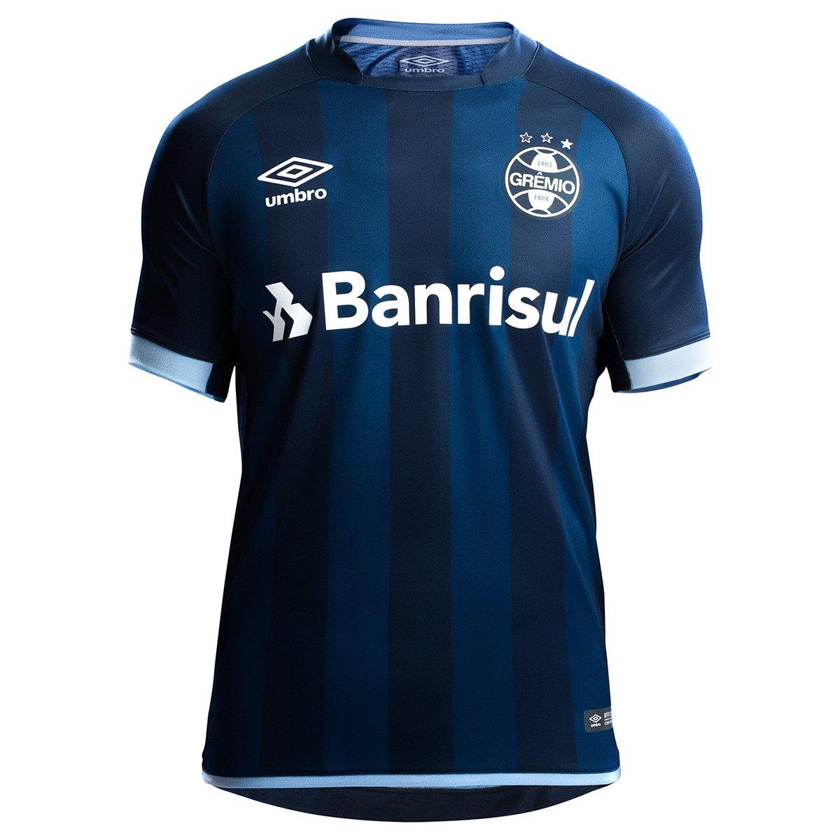 7e2c860438 Camisa Grêmio III 17/18 s/n° - Torcedor Umbro Masculina