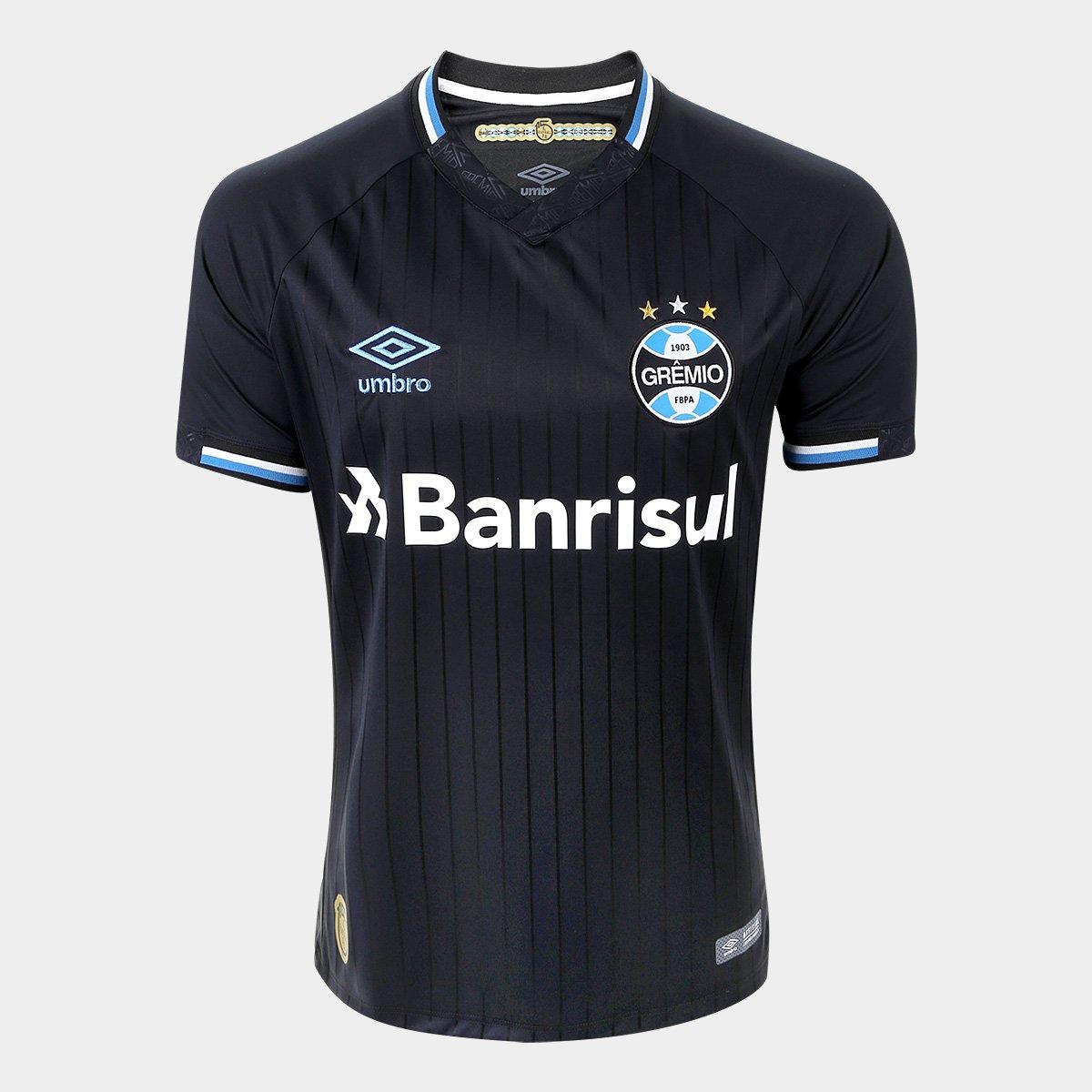 86b1453a8ffee Camisa Grêmio III 2018 s n° Torcedor Umbro Masculina - Preto e Branco -  Compre Agora