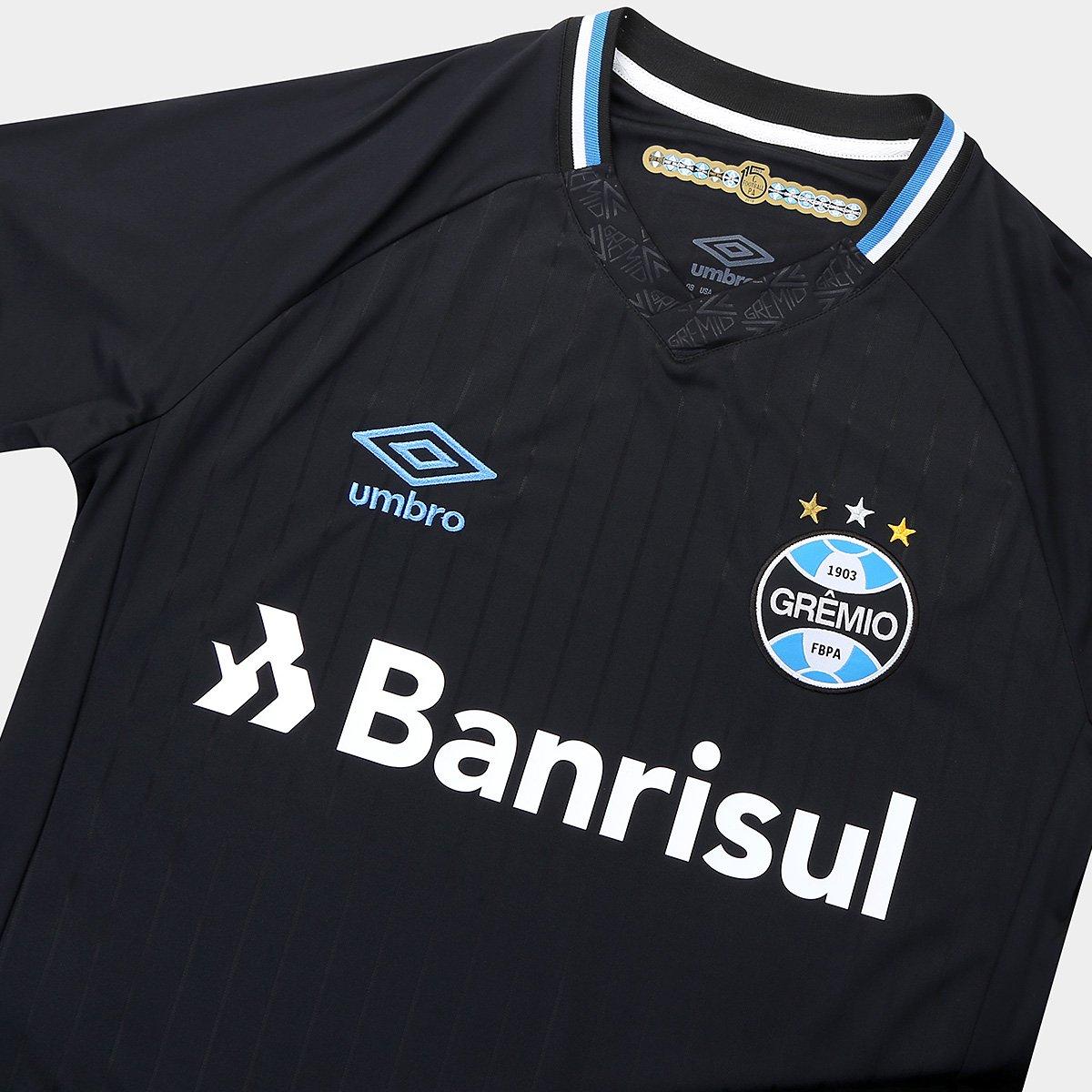 Camisa Grêmio III 2018 s n° Torcedor Umbro Masculina - Preto e ... c5f7cef14cde5
