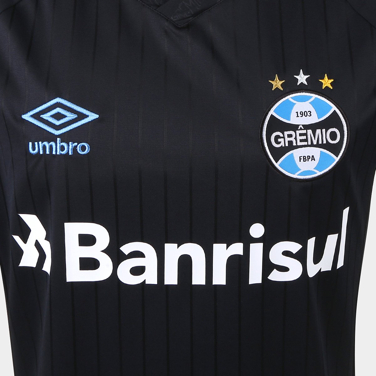 Camisa Grêmio III 2018 s n° Torcedor Umbro Masculina - Preto e ... da750bc3a23a6