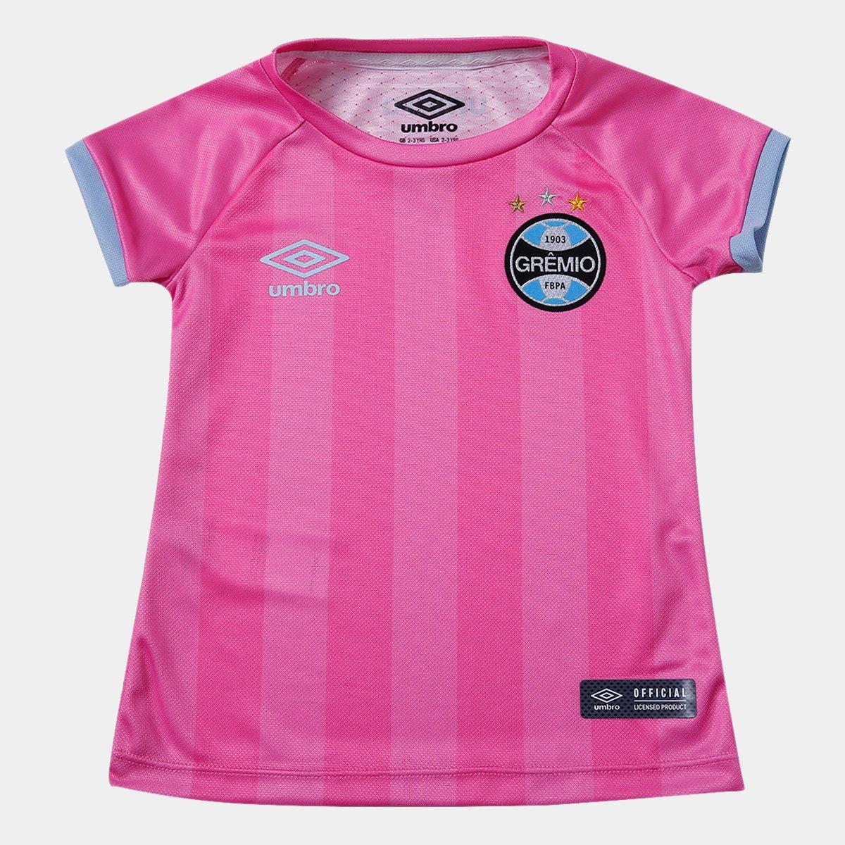 4afcc8fab0 Camisa Grêmio Infantil Outubro Rosa 17 18 s n° Umbro - Compre Agora ...