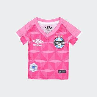Camisa Grêmio Infantil Outubro Rosa 19/20 Umbro Feminina