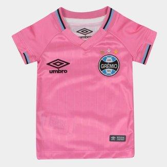 Camisa Grêmio Infantil Outubro Rosa 2018 Umbro