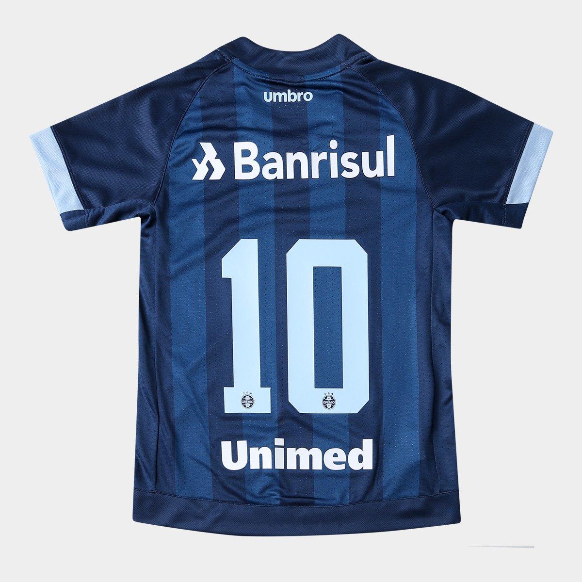 Camisa e 10 Azul n° Marinho Grêmio III Torcedor Umbro 18 17 Juvenil gvwrFpgq