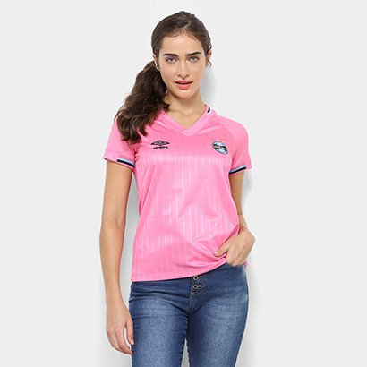 00041be5a7914 Camisa Grêmio Outubro Rosa 2018 Umbro Feminina - Rosa | Netshoes