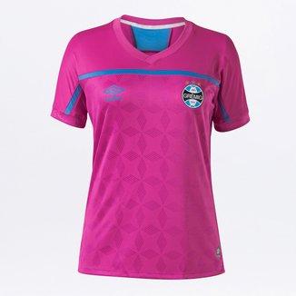 Camisa Grêmio Outubro Rosa 20/21 s/n° Torcedor Umbro Feminina