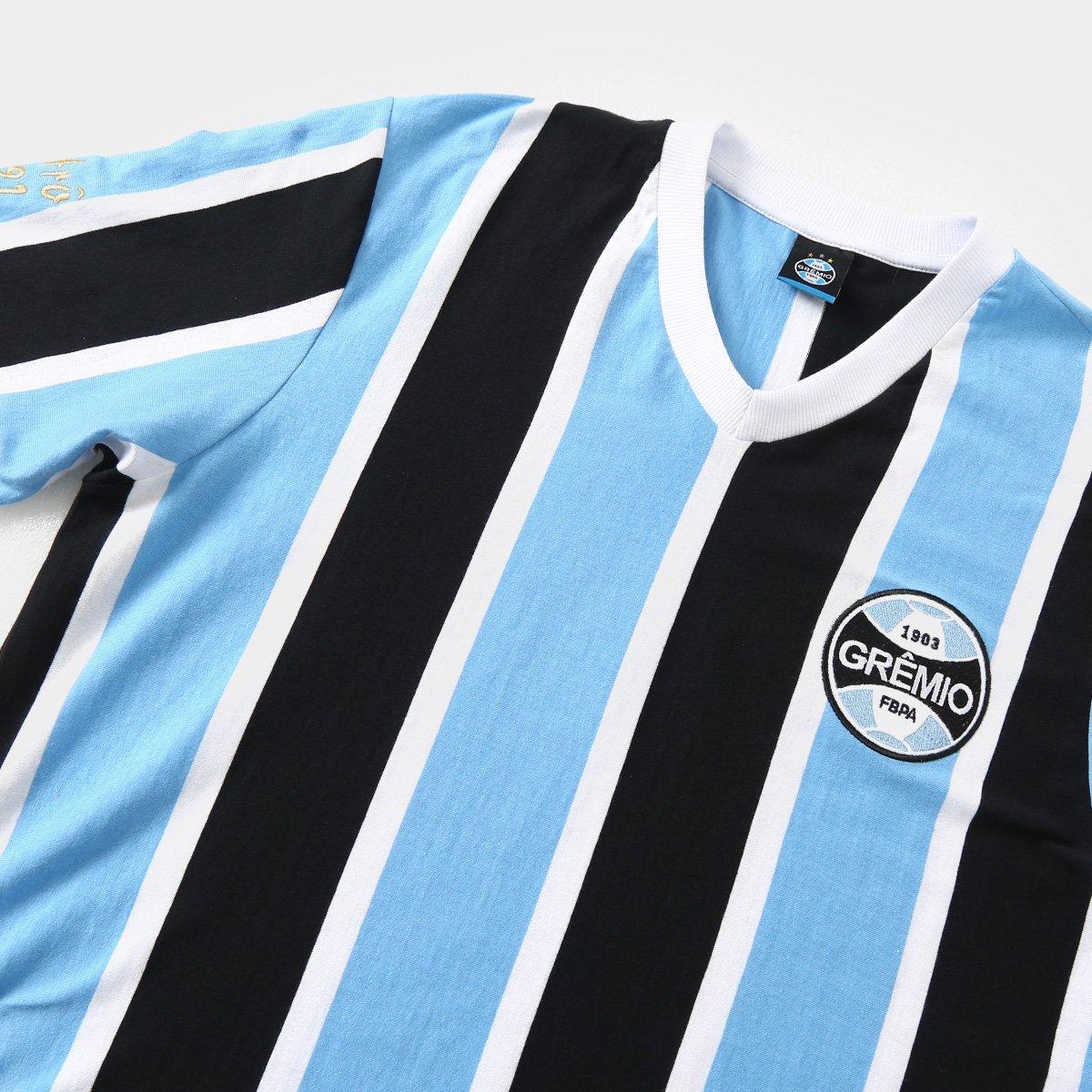 Camisa Grêmio Réplica 1991 Masculina - Preto e Azul - Compre Agora ... ba9f047d62b29